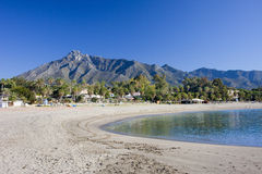 Beach in Marbella on Costa del Sol in Spain Stock Photos