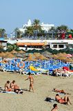 Beach, Marbella, Spain. Royalty Free Stock Image