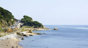 Beach on the Maresme coast Royalty Free Stock Image