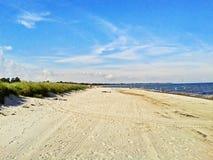 Beach in Marielyst, Denmark - baltic sea. Beach in Marielyst, denmark with ocean baltic sea and blue sky Stock Photo