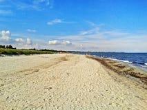 Beach in Marielyst, Denmark - baltic sea. Beach in Marielyst, denmark with ocean baltic sea and blue sky Stock Images