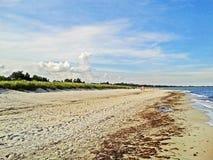 Beach in Marielyst, Denmark - baltic sea. Beach in Marielyst, denmark with ocean baltic sea and blue sky Stock Photography