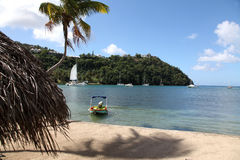 The Beach at Marigot Bay Stock Images