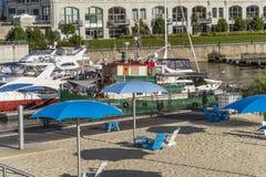 Beach and Marina Royalty Free Stock Image