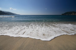 Beach of marina di campo - Elba Royalty Free Stock Photos