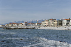 Beach of Marina di Pisa Stock Photo