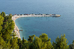 Beach at the Marjan peninsula in Split Royalty Free Stock Photography