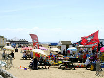 Beach market, Weston-Super-Mare. Royalty Free Stock Photography