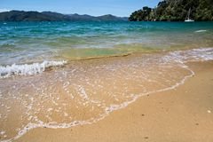 Beach  in the Marlborough Sounds Royalty Free Stock Photo