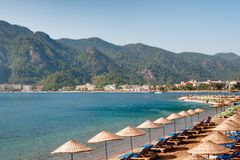 Beach of Marmaris, Turkey stock images