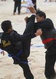 Beach martial art Stock Photography