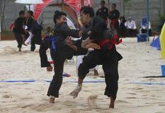 Beach martial art Stock Photos