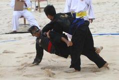Beach martial art Royalty Free Stock Photos