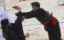 Beach martial art Royalty Free Stock Images