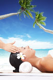 Beach massage Royalty Free Stock Photography