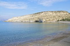 The Beach of Matala, Crete Royalty Free Stock Image