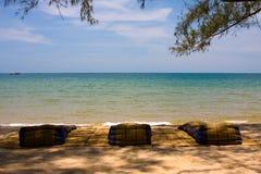 Beach mats Stock Photography