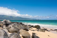 The beach in Maui, Hawaii Stock Images