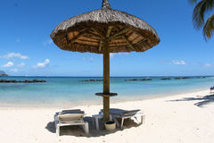 Beach in Mauritius Royalty Free Stock Images