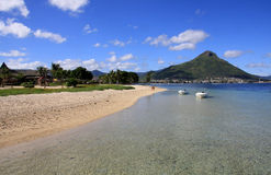 Beach in Mauritius Stock Image