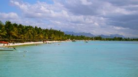 Beach at Mauritius island stock image