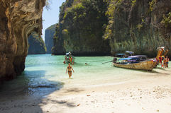 Beach Maya Bay on the island of Phi Phi royalty free stock photography