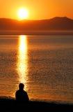 Beach meditation Stock Photography