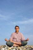 Beach meditation Stock Photography