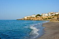 Beach on Mediterranean Sea. Nerja, Spain, 2008 Royalty Free Stock Image
