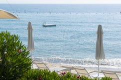 Beach on the Mediterranean Sea Stock Photography