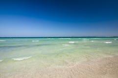 Beach of Mediterranean sea, Alcudia, Majorca, Spain. Royalty Free Stock Photos