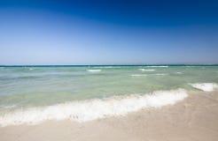Beach of Mediterranean sea, Alcudia, Majorca, Spain. Royalty Free Stock Photo