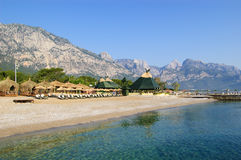 Beach at Mediterranean Sea, Antalya, Turkey Royalty Free Stock Photo