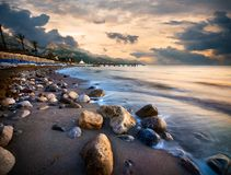 Beach in Mediterranean sea royalty free stock images