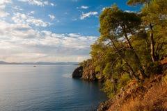 Beach at Mediterranean sea. Fethie, Turkey Royalty Free Stock Images