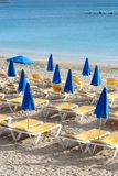 Beach of Mediterranean Sea Royalty Free Stock Photo