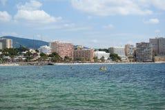 The beach. Of Mediterranean sea, Mallorca, Spain Royalty Free Stock Photography