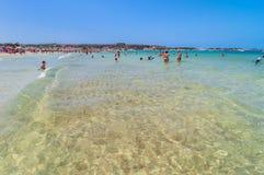 Beach and Mediterranean sea in San Vito Lo Capo, Sicily, Italy Royalty Free Stock Photo