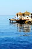 Beach on Mediterranean Turkish resort Stock Images
