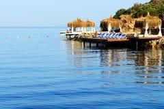 Beach on Mediterranean Turkish resort Stock Photo