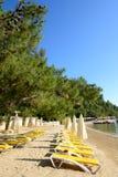 Beach on Mediterranean turkish resort Stock Photography