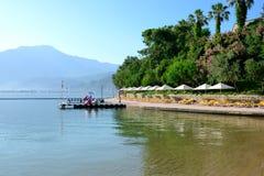 Beach on Mediterranean turkish resort Stock Image