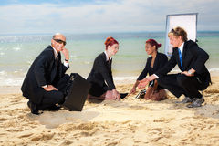 Beach meeting Stock Images