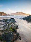 Beach in Meiras, Galicia, Spain. Royalty Free Stock Photography