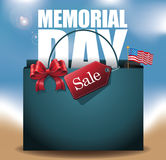 Beach Memorial Day Sale shopping bag Background Royalty Free Stock Images