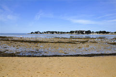 Beach of Men Du at La Trinite sur Mer in France Stock Image