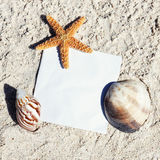 Beach message Royalty Free Stock Images