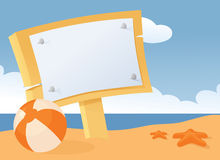 Beach Message Royalty Free Stock Photography