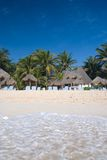 Beach in the Mexican Caribbean Stock Image