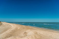 Beach on the Mexican Gulf. Royalty Free Stock Images